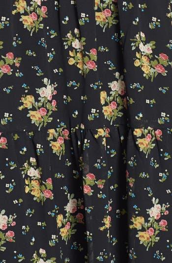 Alternate Image 3  - Blu Pepper Cage Back Floral Babydoll Mini Dress (Juniors)