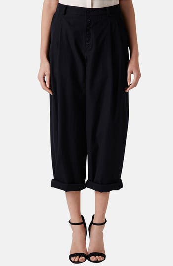 Alternate Image 1 Selected - Topshop Boutique Wide Leg Wool Trousers