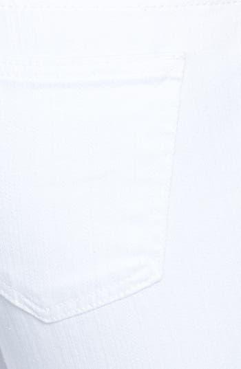 Alternate Image 3  - STS Blue Destroyed Slim Boyfriend Jeans (White) (Juniors)