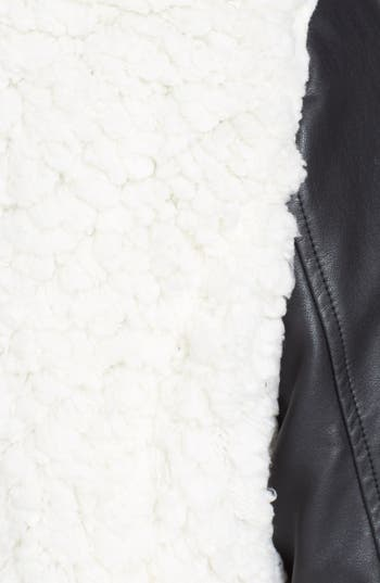 Alternate Image 4  - Coffee Shop 'Whubby' Faux Leather Jacket (Juniors)