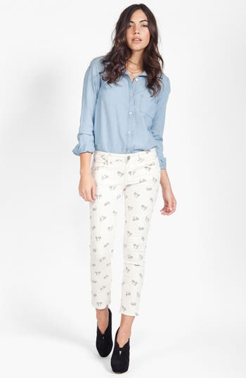 Alternate Image 4  - Paige Denim 'Kylie' Print Crop Skinny Leg Jeans (Cream Retro Cruiser)