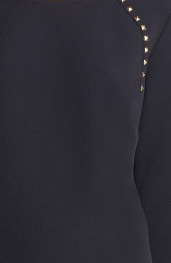 Alternate Image 3  - Donna Morgan Studded Crepe Shift Dress (Online Only)
