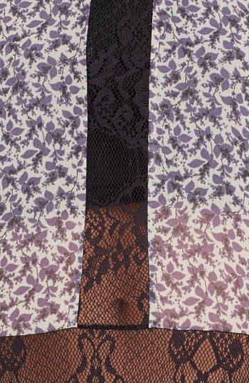 Alternate Image 3  - Lush Lace Inset Floral Print Tank (Juniors)