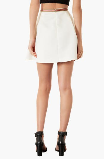 Alternate Image 2  - Topshop Textured Round Skirt