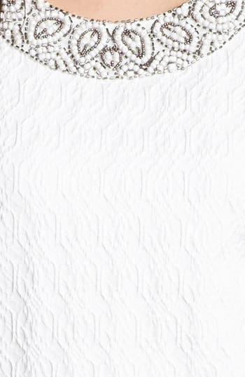 Alternate Image 3  - Adrianna Papell Embellished Jacquard Shift Dress (Petite)