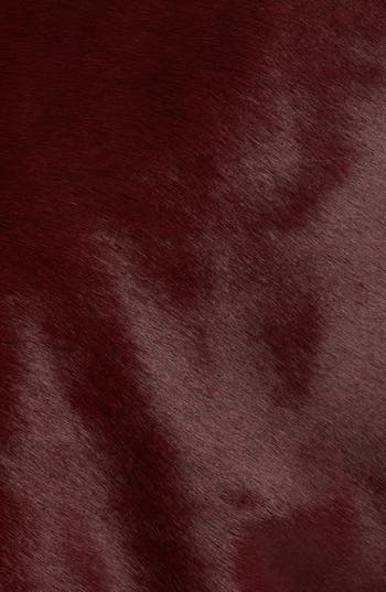 Alternate Image 3  - Burberry London Genuine Calf Hair Moto Jacket