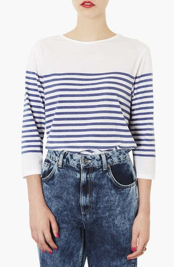 Alternate Image 1 Selected - Topshop Stripe Tee