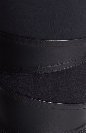 Alternate Image 3  - Rubbish® Faux Leather Inset Leggings (Juniors)