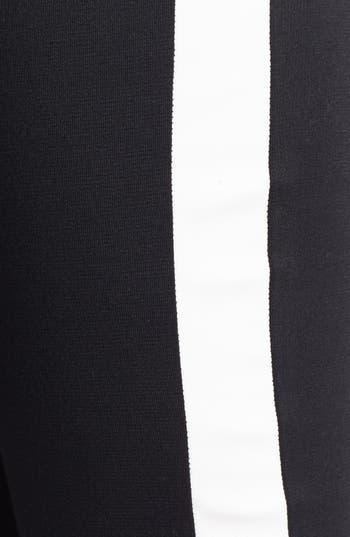 Alternate Image 3  - Lily White Tuxedo Stripe Leggings (Juniors) (Online Only)