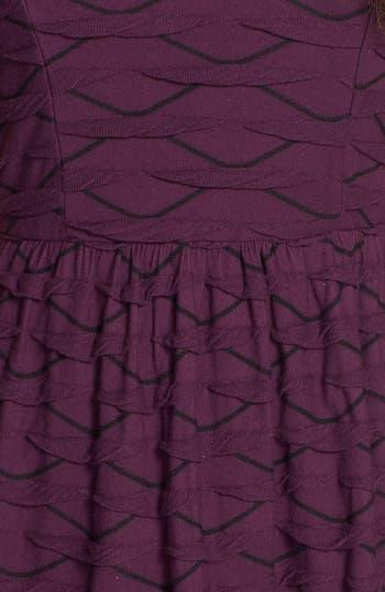 Alternate Image 3  - Socialite Ruffled Skater Dress (Juniors)