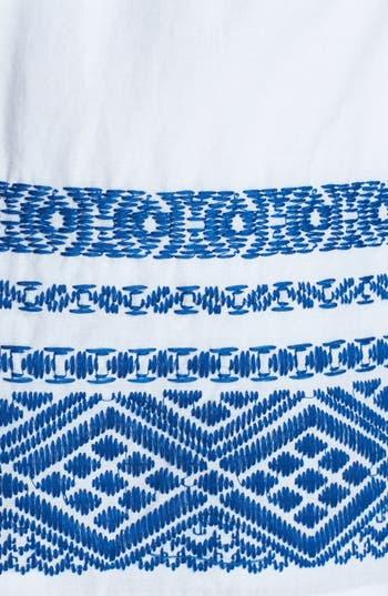Alternate Image 3  - Socialite Embroidered Hem Cotton Skirt (Juniors)
