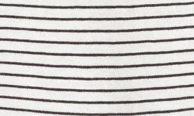 Ivory- Black Aubrey Stripe swatch image