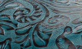 Teal Tooled Leather swatch image