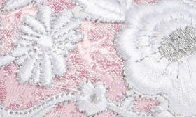 Pink/ Wht Floral/ Silvr Fabric swatch image