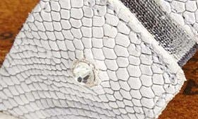 Silver Snake/ White swatch image
