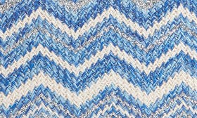 Blue Water- Silver Chevron swatch image