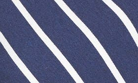 Navy/ Ivory Stripe swatch image