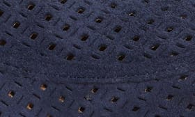 Navy Perforated Suede swatch image