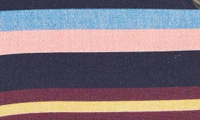 Navy- Coral Stripe swatch image