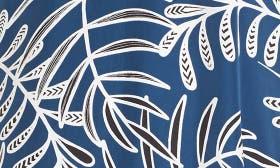 Blue- Black Leaf Print swatch image