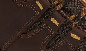 Coffee Bean/ Bronze Leather swatch image