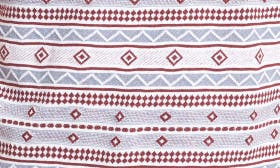 White- Red Oxblood Jacquard swatch image