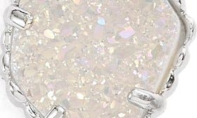 Rhodium/ Iridescent Drusy swatch image