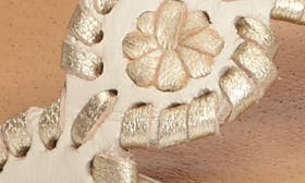 Bone/ Gold Leather swatch image