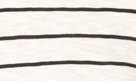 Ivory- Black Julia Stripe swatch image