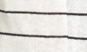 Ivory- Black Skinny Stripe swatch image