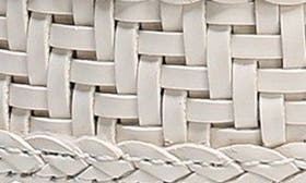Bright White Weave Leather swatch image