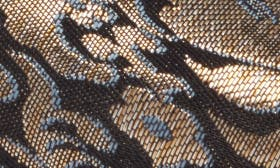 Black/ Gold Brocade Fabric swatch image