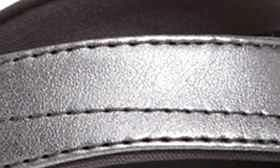 Pewter/ Black Faux Leather swatch image