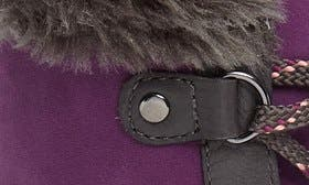 Purple/ Pewter Leather swatch image