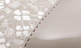 Light Grey Print Leather swatch image