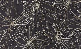 Black- Olive Line Floral swatch image
