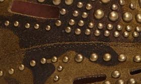Camo/ Bronze Leather swatch image