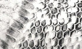 Black/ White Print Leather swatch image