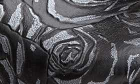 Black/ Silver Rose Leather swatch image