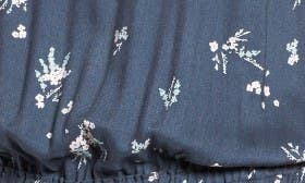 Navy India Ink Floral Clusters swatch image