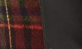 Black/ Burgundy Plaid Flannel swatch image