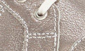 Platinum Metallic Leather swatch image