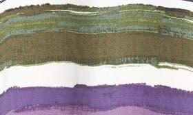 Ivory- Olive Stripe swatch image