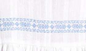 White- Blue Embroidery swatch image