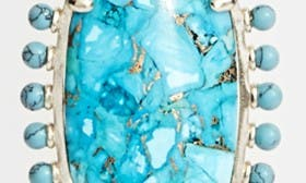 Turquoise Magnesite/ Gold swatch image