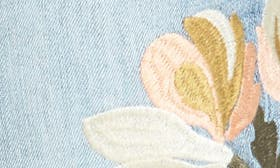 Blue Embroidered Flower swatch image