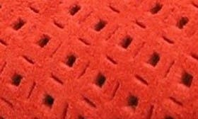 Red Perforated Suede swatch image