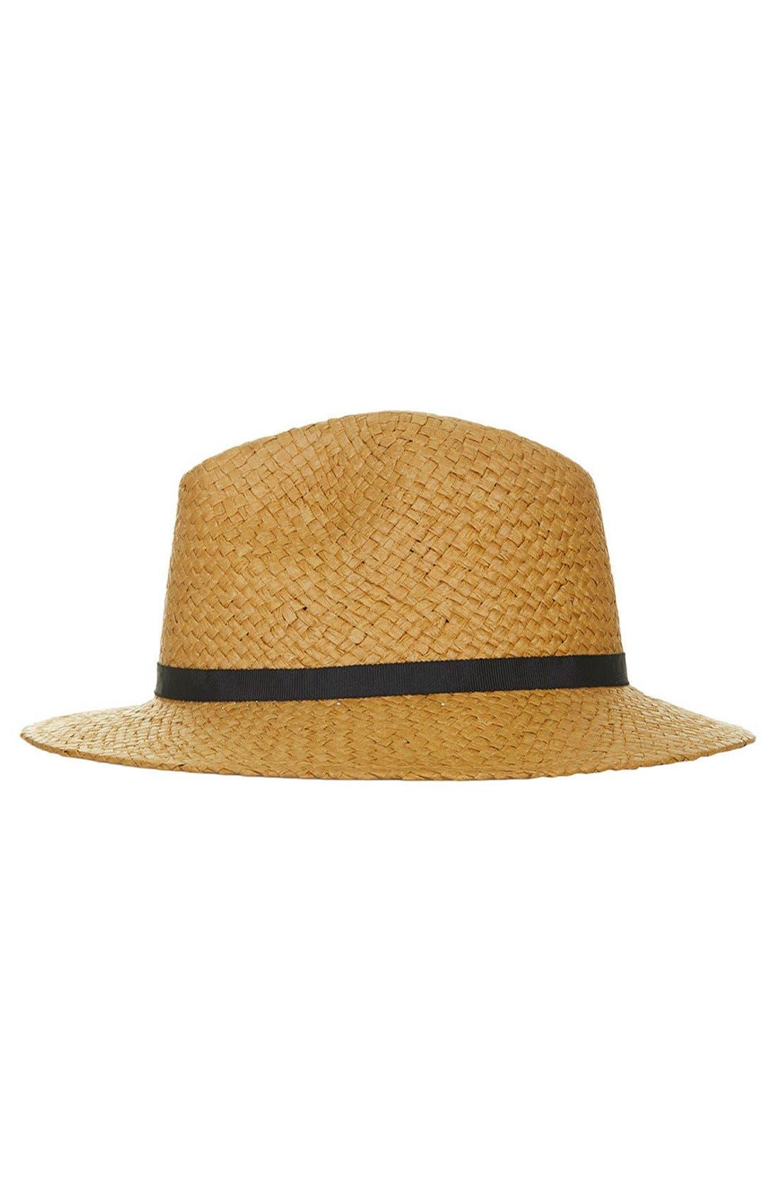 Main Image - Topshop Floppy Straw Hat