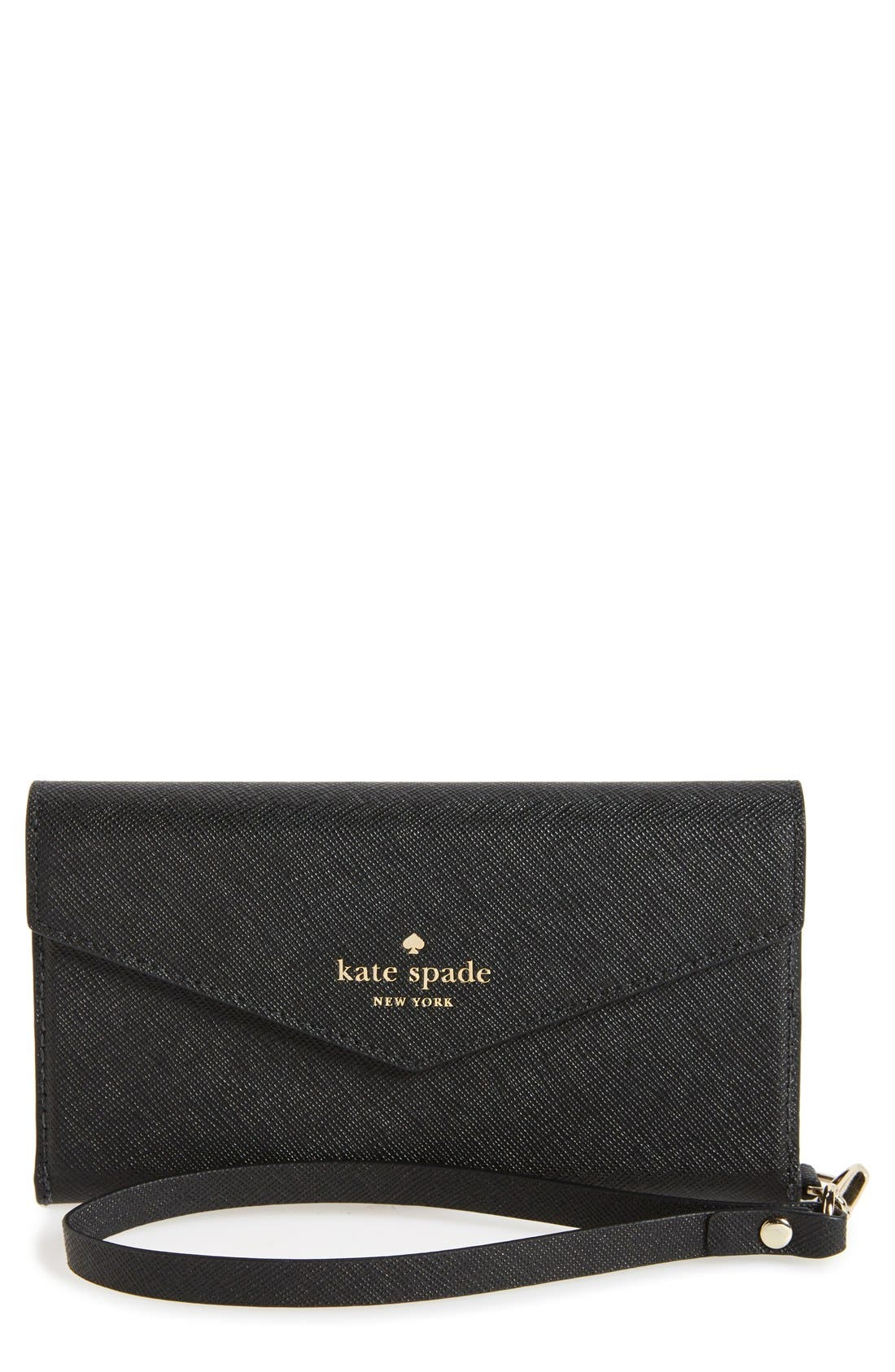 Alternate Image 1 Selected - kate spade new york iPhone 7 & 7 Plus leather wristlet