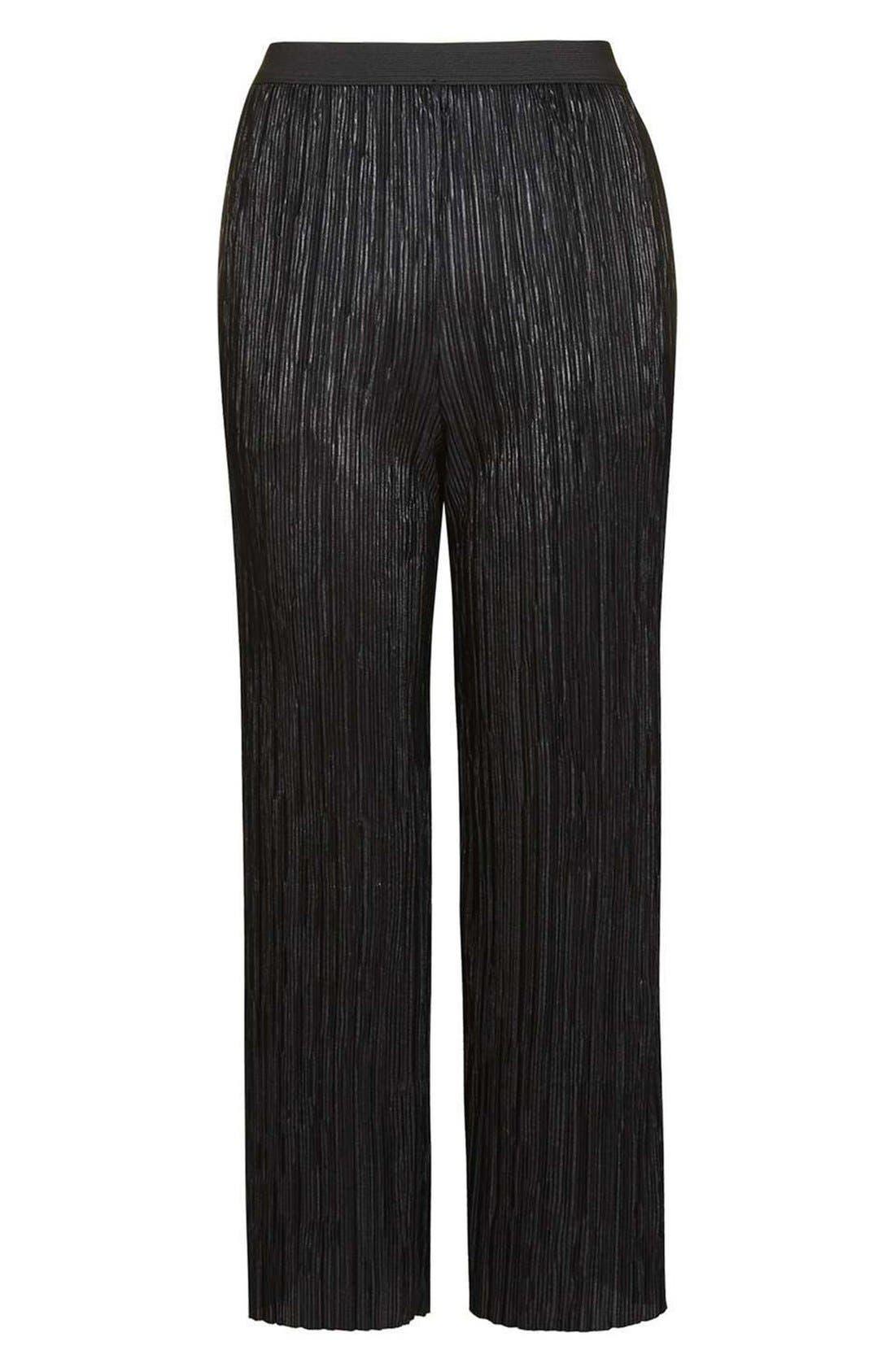 Alternate Image 4  - Topshop Plissé Trousers